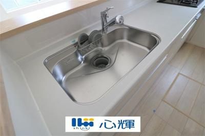 洗練されたデザインのメタルシャワーヘッドは引き出し可能で、シンクの隅々まで洗い流すのに大変重宝します。シャワーヘッド内蔵のカートリッジはカルキ・溶解性鉛・農薬・カビ臭などの不純物を低減します。