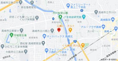 【地図】川西町1丁目貸家 (株)Roots