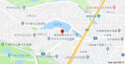 【地図】COURT春日丘