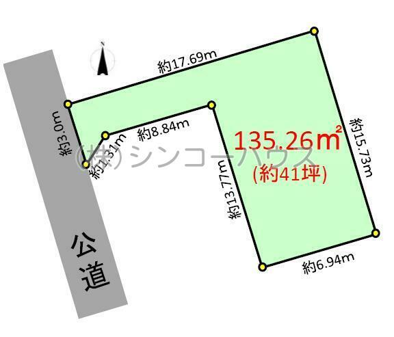 【土地図】久喜市本町8丁目 売地