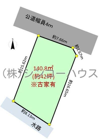 【土地図】久喜市本町4丁目 売地