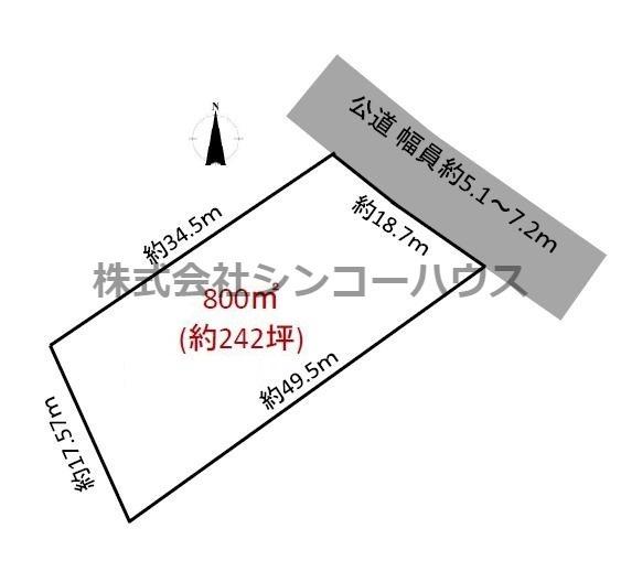 【土地図】久喜市野古久喜 店舗用地