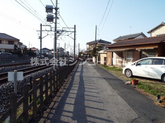 【前面道路含む現地写真】加須市旗井 売地