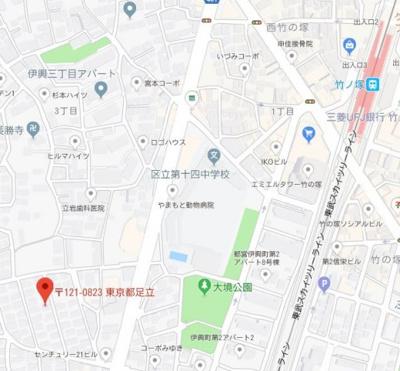 【地図】イーハトーヴ竹ノ塚