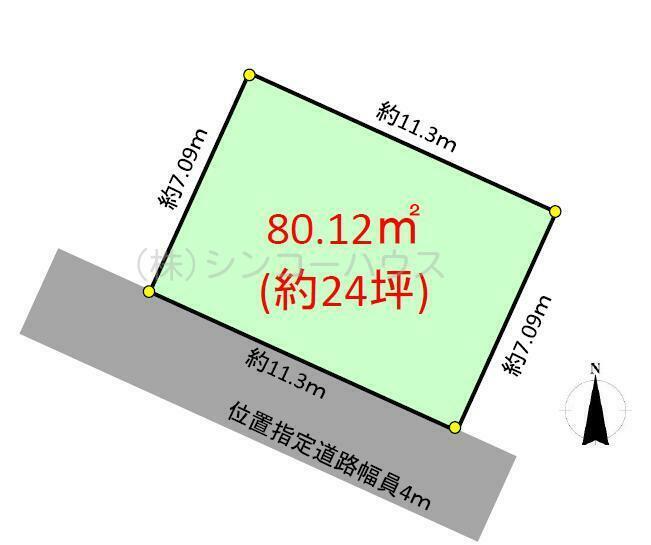 【土地図】岩槻区日の出町 売地