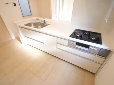 使いやすいキッチンです:建物完成しました♪吉川新築ナビで検索♪