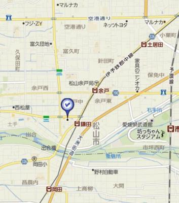 【地図】サーパス余戸南