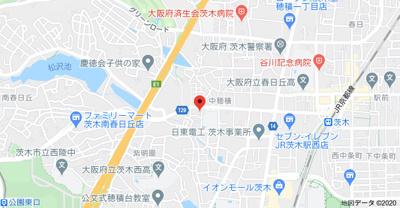 【地図】アイウエスト茨木