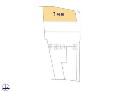 【区画図】クレイドルガーデン倉敷市児島唐琴第1 1号棟