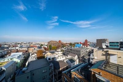 視界を遮る建物はなく、爽快な眺望が望めます。