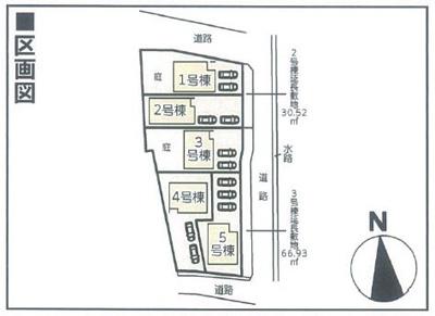 【区画図】クレイドルガーデン倉敷市児島唐琴第1 5号棟