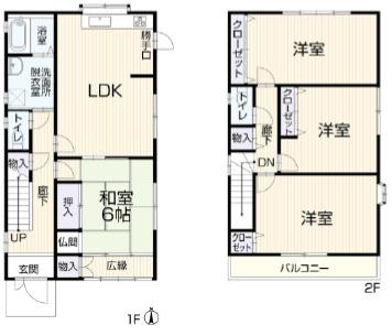 4LDK キッチン・洗面化粧台・トイレ・浴室新品に交換します。