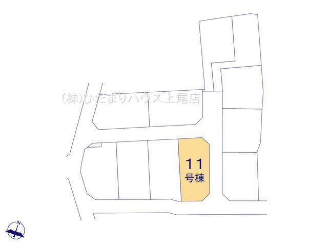 【区画図】西区中釘 新築一戸建て リーブルガーデン 11