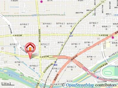 【地図】モナーク余戸