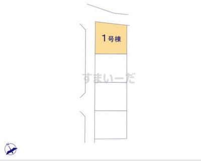 【区画図】クレイドルガーデン倉敷市連島町連島第1 1号棟