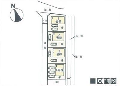 【区画図】クレイドルガーデン倉敷市連島町連島第1 3号棟
