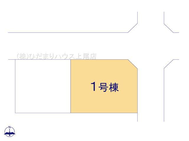 【区画図】伊奈町栄5丁目 2期 新築一戸建て ブルーミングガーデン 01