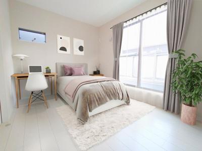 【施工例】洋室施工イメージです。バルコニーに面していつ居室は明るく主寝室に良いですね♪