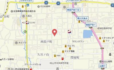 【地図】ウィンズ長戸