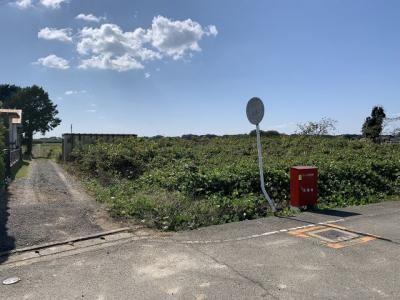 【前面道路含む現地写真】万勝寺町土地