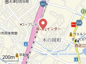 【地図】サンシティ木の岡B棟