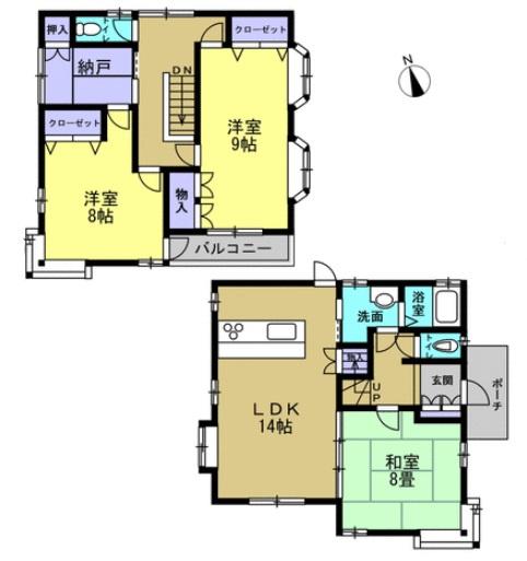 3LDK+納戸 全室洋室となります。