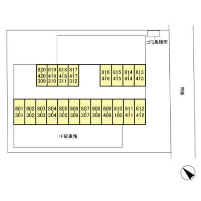 【区画図】ファーストコーポ弐番館