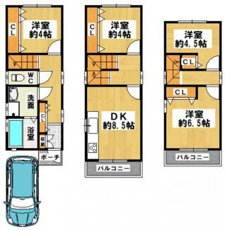 改装工事完了、即日内覧も応相談!全室クロス張替え、フロアタイル施工、設備新調など、即入居可能!