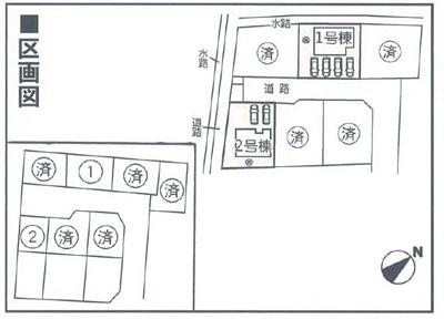 【区画図】クレイドルガーデン倉敷市玉島阿賀崎第4 2号棟