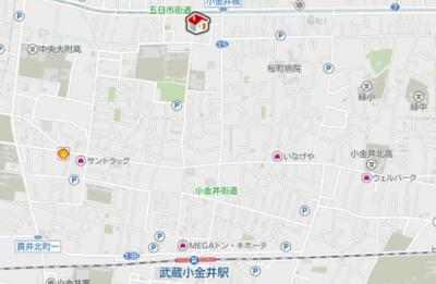 【地図】レオパレスブルーメ(31013-203)