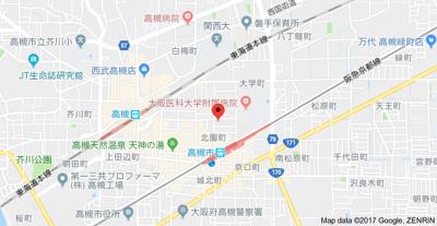 【地図】プリミエール高槻 (株)Roots