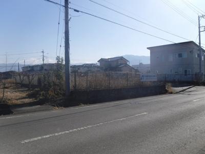 【外観】南アルプス市戸田196坪売地