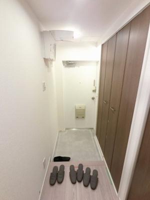 玄関部分です。 シューズインクローゼット・マルチクローゼット付と収納力◎