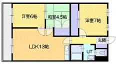 【間取り】《高稼働!RC造9.01%》千歳市高台2丁目一棟マンション