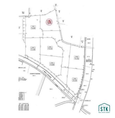 【区画図】富士川町大椚 売地