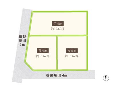 【区画図】マザーハーツ中川東1丁目 3区画
