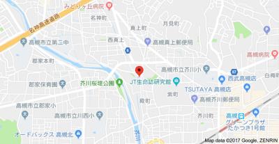 【地図】カレッジコート大知Ⅱ(株)Roots