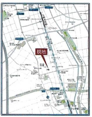 【地図】ローズタウン与野 売地 さいたま市中央区鈴谷7丁目