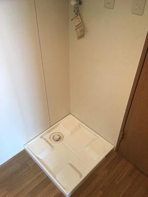 室内の洗濯機置き場