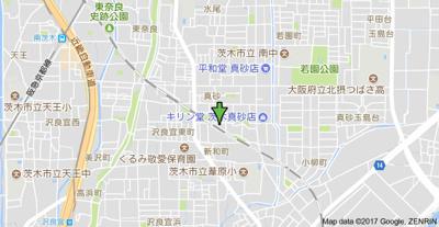 【地図】ローズコーポ沢良宜
