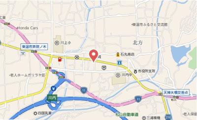 【地図】ヴィラ田中C