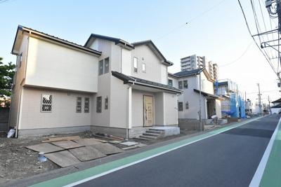【前面道路含む現地写真】鴻巣市本町6丁目 新築分譲住宅 全4棟