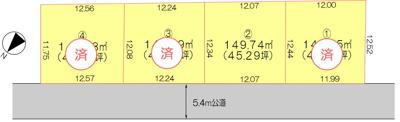 【区画図】鴻巣市本町6丁目 新築分譲住宅 全4棟