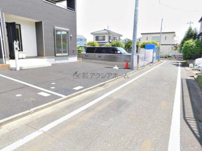 車の通り抜けが少ない前面道路