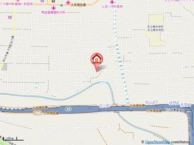 【地図】フォブール北井門 A棟・