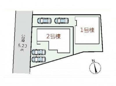 駐車2台可能です!
