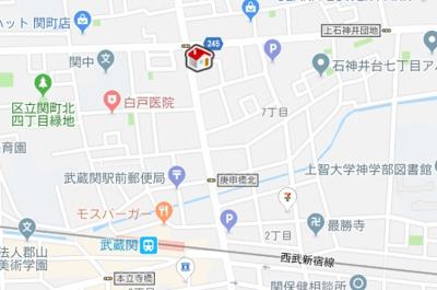 【地図】レオパレス小関(33365-401)
