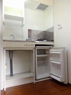 ミニより少し大きめな冷蔵庫です