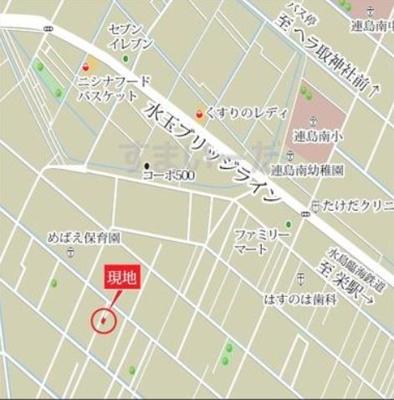 【地図】グラファーレ倉敷市連島町鶴新田3期 3号棟