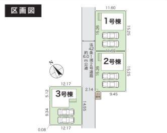 【区画図】グラファーレ倉敷市連島町鶴新田3期 3号棟